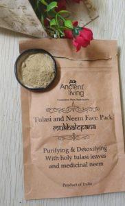 Ancient living tulsi neem facepack 182x300 Ancient Living Tulasi Neem Face Pack Review